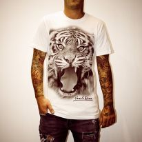 TIGER HEAD WHITE TEE