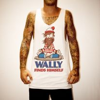 WALLY FOUND WHITE SINGLET