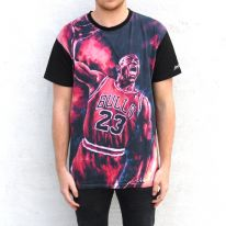 FULL PRINT JORDAN IN FLAMES TEE