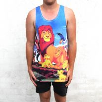 FULL PRINT LION KING SINGLET