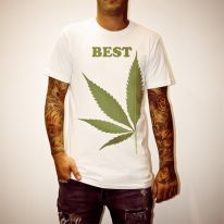 BEST LEAF WHITE TEE