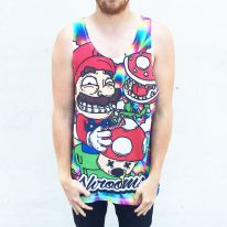 FULL PRINT SHROOMS SINGLET