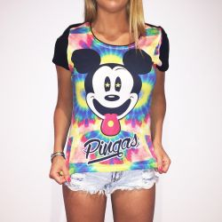 FULL PRINT MICKEY PINGAS WOMENS T-SHIRT