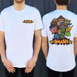 SMASH BROS MARIO FRONT AND BACK TEE